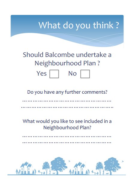 Spring  Neighbourhood Planning Presentation  Feedback Form
