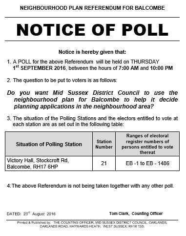 Referendum Notice of Poll